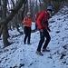 Scivolosa discesa verso l'Alpe d'Orimento