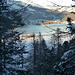 in discesa colori del lago Silvaplana