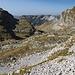 Im Aufstieg zwischen Zeleni vir und Velika previja - Rückblick in einer Höhe von ca. 2.120 m.