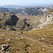 Im Aufstieg zwischen Zeleni vir und Velika previja - Unmittelbar vor Ankunft am Pass.