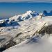 Gipfelausblick vom Ulrichshorn: Allalin im Zoom