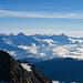 Gipfelausblick vom Ulrichshorn: Blick über den Balfrin hinweg zu den Berner Alpen