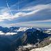 Gipfelausblick vom Ulrichshorn: Bewegter Himmel