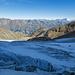 Der untere Teil vom Riedgletscher nach überwundenem Gletscherbruch (nicht im Bild)