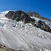 Unterer Teil des Riedgletschers auf dem Weg zur Bordierhütte (Panoramaaufnahme)