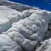 Impression vom Eisbruch beim Riedgletscher. Dazwischen blieb die Kamera für ein Weilchen in der Tasche wegen wolkigem Wetter.