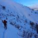 lungo il traverso per raggiungere la dorsale che scende al Rifugio Alp de Volt