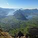 Aussicht vom Grossen Mythen auf den Lauerzer- und den Vierwaldstättersee