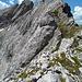 Der große Block ist der Gipfelaufschwung der Östl. Karwendelspitze.