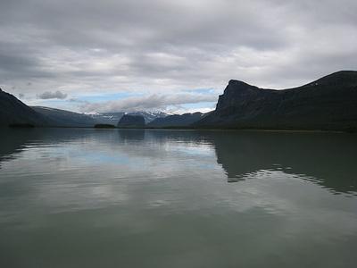 Bootsfahrt auf dem Laitaure in Richtung Rapadalen