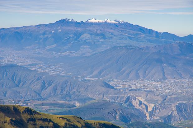 Quito und der Pichincha-Vulkan