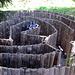 Ein Schneckenlabyrinth.