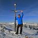 Bei meiner letzten Tour auf den Margelchopf hatte es auf dem Gipfel viel mehr Schnee als heute, dafür war heute der Aufstieg eher schwerer mit mehr Schnee als das letzte Mal, siehe Bild aus der letzten Tour.... [http://www.hikr.org/gallery/photo2311935.html?post_id=118270#1 Gipfelfoto]