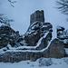 Ruine Weißenstein - im Winter bei viel Schnee eine anstrengende Hatsch, da steil, schlecht markiert und ein vollkommen undeutlicher Pfadverlauf