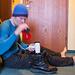 Hotelroutine - Stiefel trocknen