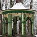 In Bayreuth und Umgebung lag deutlich weniger Schnee als im Fichtelgebirge, wie hier an einem Pavillon der Eremitage