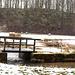 Brücke über die Truppach bei Hollfeld - parallel läuft ein  schöner Kinderwanderweg mit vielen Aktivelementen, wie Wasserspielen, einem Stamm zum durchkriechen, Baumtelefon usw.