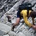 Kurze Kletterei beim Abstieg