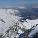 Blick Nord ins braune Sursès und über die Lenzerheide