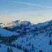 Blick zur Druesberg-Kette beim Start bei der Bergstation Gitschen