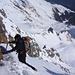 Gipfelkopf: Ein kurzer, querender Abstieg... Foto CJ