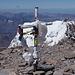Das Gipfelkreuz des Aconcagua, 6962m.