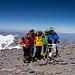 Am Gipfel des Aconcagua, was für ein Tag! Der Blick reicht bis zum Pazifik.