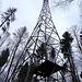 die Antenne beim Abstieg zum Wanderweg