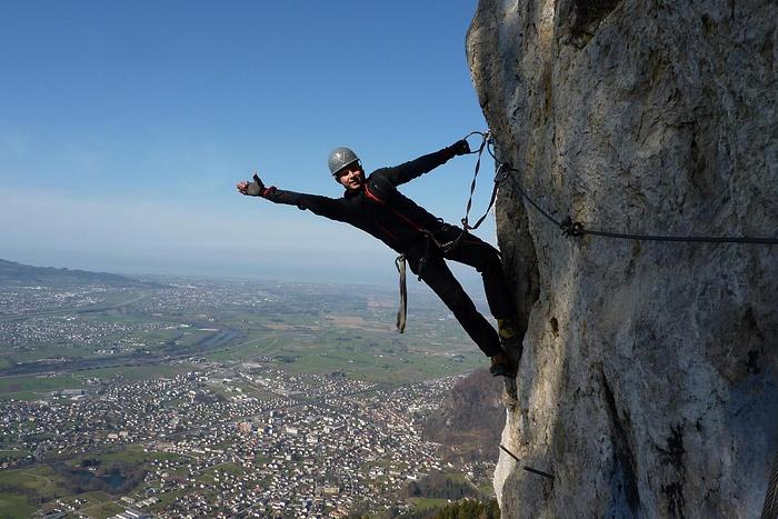 Klettersteig Via Kapf : Der letzte aufschwung in via kapf fotos hikr