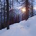 Ein schöner Moment nach mehr als zwei Stunden unterwegs - die Sonne geht auf