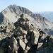 auf dem Gipfel vom Piz Suvretta mit dem Piz Bever im Hintergrund