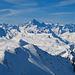 Berner Hochalpen beim Aufstieg zum Gipfel