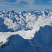 Blinnenhorn bis Finsteraarhorn. Einige Gipfel habe ich schon in anderen Bildern beschriftet.