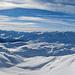 Panoramaaufnahme vom Guspissattel aus in Richtung Süden