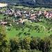 Foto der ersten Tour:<br /><br />Tiefblick von der Felskanzel P.681m vom Schlimmberg auf das Dorf Sankt Pantaleon (488m).