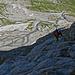 Der Klettersteig zur Tierberglihütte mit seinen natürlichen Seitenblicken.