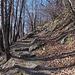 Schöner Bergweg zwischen Roveredo und Giova