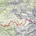 Routenverlauf (nur Aufstieg)<br /><br />Quelle: SchweizMobil
