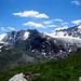 Ca.2500m  - der Schwärzekamm (in der Bildmitte) trennt die Täler des Langtaler Ferners (links) -mit Hohe Wilde darüber- und des Gurgler Ferners (rechts).
