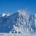 Nesthorn, Lötschentaler Breithorn und Breitlauihorn im Zoom. Genial sind die tief verschneiten Nordflanken.