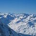 Blick am Schwarzhorn vorbei zum Mont Blanc
