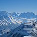Liskamm bis Kleines Matterhorn. Das Breite Horn rechts ist das Breithorn.