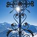 Geschmiedetes Gipfelkreuz auf dem Augstbordhorn