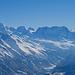 Ein Stück vom Mattertal und die Gipfelreihe vom Liskamm bis zum Kleinen Matterhorn
