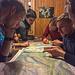 Tourenvorbereitung in der Hütte