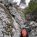 die erste Kletterpassage
