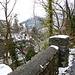 Der Weg über die Margrethenkapelle mit Blick gegen Feldkirch