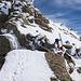 Kurze, leichte Kletterstelle