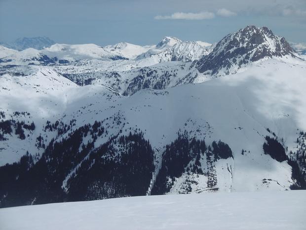 Blick vom Steinbergstein in östliche Richtung