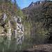 Bei Le Theusseret (oberhalb der Staustufe) am Doubs